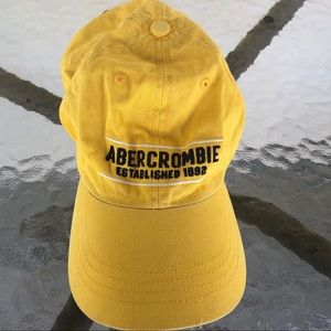 90's Abercrombie Hat Baseball Cap Yellow Adjust